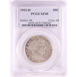 1912-D Barber Half Dollar Coin PCGS XF45