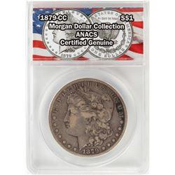 1879-CC $1 Morgan Silver Dollar Coin ANACS Certified Genuine