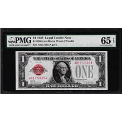 1928 $1 Legal Tender Note Fr.1500 PMG Gem Uncirculated 65EPQ