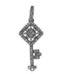0.15 CTW Diamond Necklace 14K White Gold - REF-19X4R