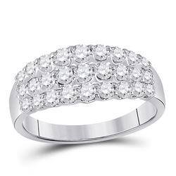 1 CTW Round Diamond Anniversary Ring 14kt White Gold - REF-71X9T