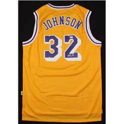 Magic Johnson Signed Jersey (PSA Hologram)