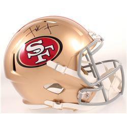 Frank Gore Signed 49ers Full-Size Speed Helmet (JSA COA)