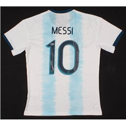 Lionel Messi Signed Argentina Jersey Inscribed (Beckett COA)