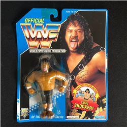 RARE MOC WWF 1993 Hasbro Blue Card HEADSHAKER SAMU Wrestling Figure