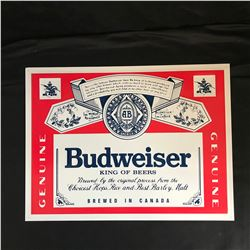 """Budweiser King of Beers Classic Logo Tin Sign 24"""" X 24"""""""