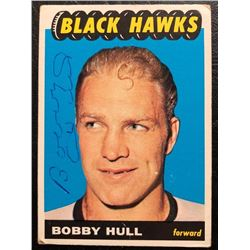 1965-66 Topps #59 Bobby Hull Signed Hockey Card