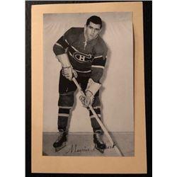 1945-64 Beehive Photo Maurice Rocket Richard Montreal Canadiens