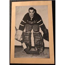 1945-64 Beehive Photo Jacques Plante Montreal Canadiens