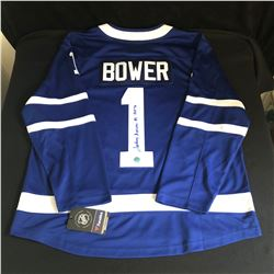 JOHNNY BOWER SIGNED MAPLE LEAFS JERSEY (AJ SPORTS COA)