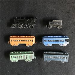 Vintage Die Cast Metal Tootsie Toy Model Rail Road Train Car Lot