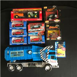 COLLECTIBLE DIE-CAST CAR LOT w/ TONKA TRUCK