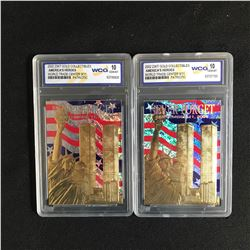 2002 23K GOLD COLLECTIBLES AMERICA'S HEROES World Trade Center 911 Lot (10 GEM MINT)
