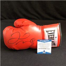 Floyd Mayweather Jr. Signed Red Everlast Boxing Glove (Beckett COA)