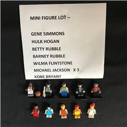 LEGO MINIFIGURES LOT (GENE SIMMONS, HULK HOGAN, KOBE BRYANT...)