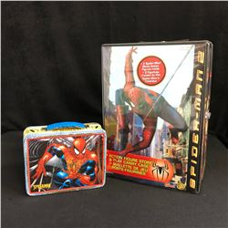 SPIDER-MAN COLLECTIBLES LOT (ACTION FIGURE CASE & LUNCH BOX)