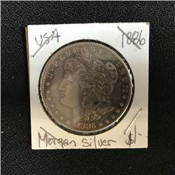 1886 USA MORGAN SILVER DOLLAR