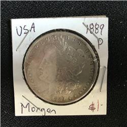 1889 USA MORGAN SILVER DOLLAR (PHILADELPHIA MINTED)