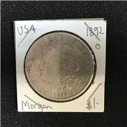 1892 USA MORGAN SILVER DOLLAR