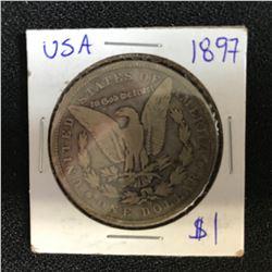 1897 USA MORGAN SILVER DOLLAR