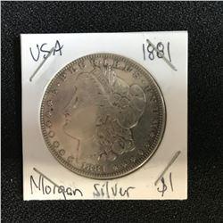 1881 USA MORGAN SILVER DOLLAR