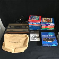 VINTAGE INTELLIVISION GAMING CONSOLE w/ VIDEO GAMES