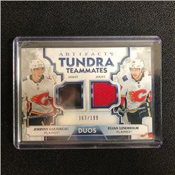 2019-20 Artifacts Tundra Teammates Duo CAL Lindholm Gaudreau Dual Jersey 063/199
