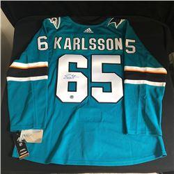 Erik Karlsson Signed Adidas Sharks Jersey (AJ Sports COA)
