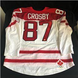 SIDNEY CROSBY SIGNED 2010 OLYMPICS TEAM CANADA HOCKEY JERSEY (FRAMEWORTH COA)