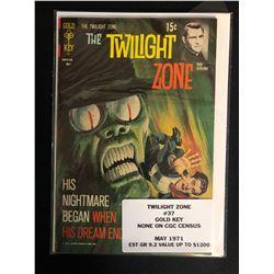 THE TWILIGHT ZONE #37 (GOLD KEY COMICS) 1971