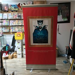 MALEFICENT ADVERTISING POSTER w/ DISPLAY STAND & CARRYING CASE
