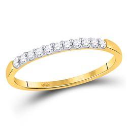 1/6 CTW Round Diamond Wedding Ring 14kt Yellow Gold - REF-13H2W