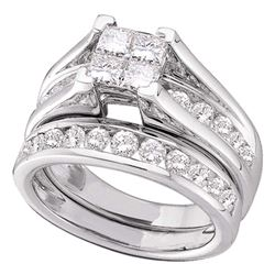 3 CTW Princess Diamond Bridal Wedding Engagement Ring 14kt White Gold - REF-311K9R