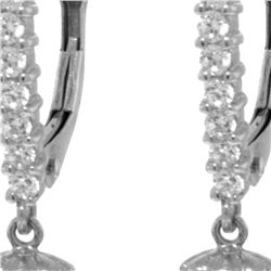 Genuine 8.3 ctw Pearl & Diamond Earrings 14KT White Gold - REF-52X7M