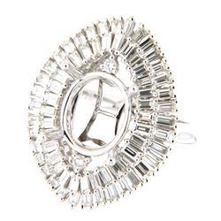 2.19 CTW Diamond Semi Mount Ring 14K White Gold - REF-221X7R