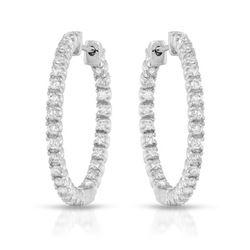 1.12 CTW Diamond Earrings 14K White Gold - REF-73H9M