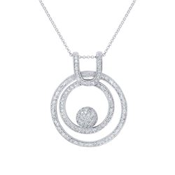 1.31 CTW Diamond Necklace 14K White Gold - REF-93H8M