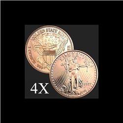 1 oz Saint-Gaudens .999 Fine Copper Bullion Round