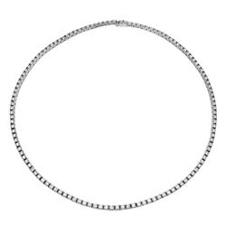 11.24 CTW Diamond Necklace 18K White Gold - REF-1137F5N
