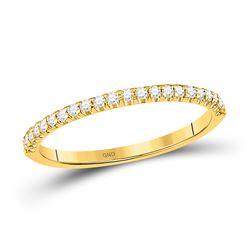 1/5 CTW Round Diamond Wedding Machine-Set Ring 14kt Yellow Gold - REF-24X3T