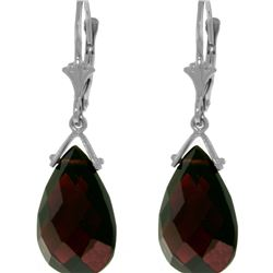Genuine 10.20 ctw Garnet Earrings 14KT White Gold - REF-39P2H