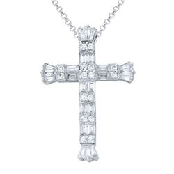 1.07 CTW Diamond Necklace 14K White Gold - REF-98Y6X
