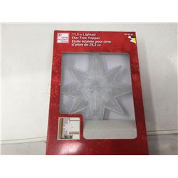 11.5 in Lighted Star Tree Topper