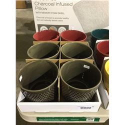"""Round Pot Assorted Colors (6 x 6 x 5.5"""") Lot of 6"""