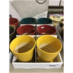 """Round Pot Assorted Colors (6 x 6 x 5.9"""") Lot of 6"""