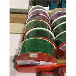 Home Accents Holiday 100' Ribbon Lot of 6