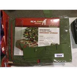 Real Simple Solutions Heavyweight 72 Count 3-Tray Ornament Storage
