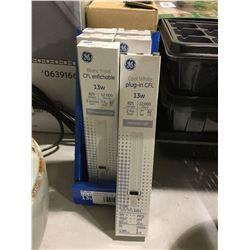 Case of 6 GE Cool White Plug-In CFL 13W Bulbs