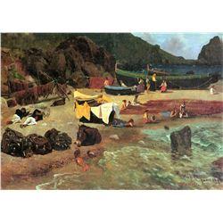 Fishing Boats by Albert Bierstadt
