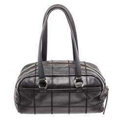 Chanel Black Caviar Leather Chocolate Bar Shoulder Bag